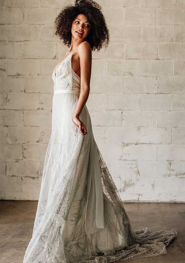Truvelle Bridal wedding dresses available at top Orange County bridal shop, Love and Lace Bridal Salon.