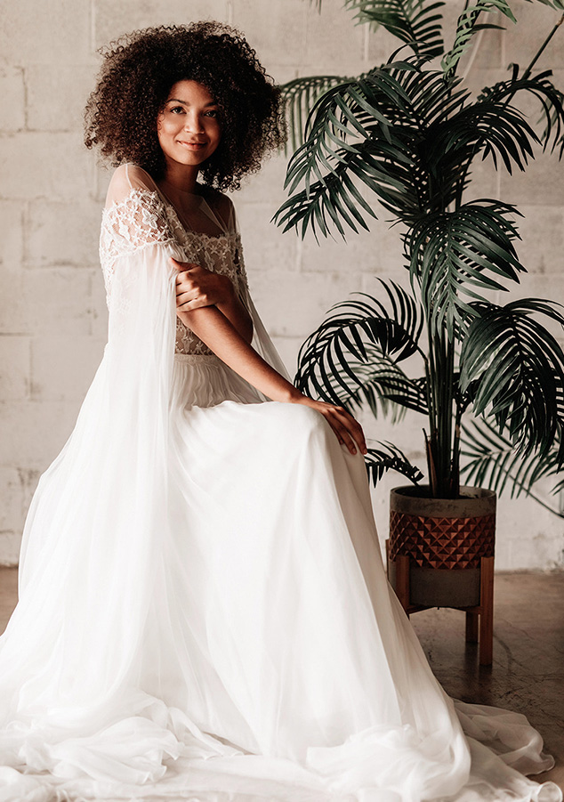 Divine Atelier wedding dresses available at top Los Angeles and Orange County bridal shop, Love and Lace Bridal Salon.