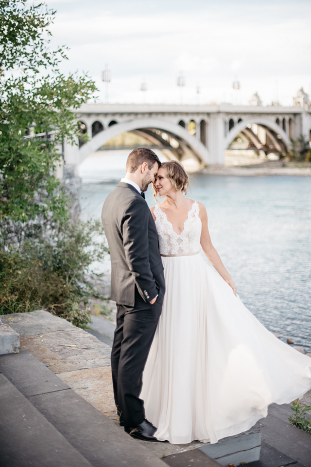 Truvelle Bride in Nicolet | Deserae Evenson Photography | Truvelle Nicolet gown can be found at Love and Lace Bridal Salon