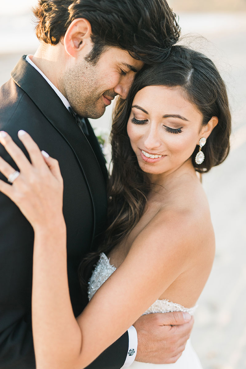 Glam and Sophisticated Beach Wedding   Real Love and Lace Bride   Adrian Jon Photography   www.loveandlacebridalsalon.com/blog