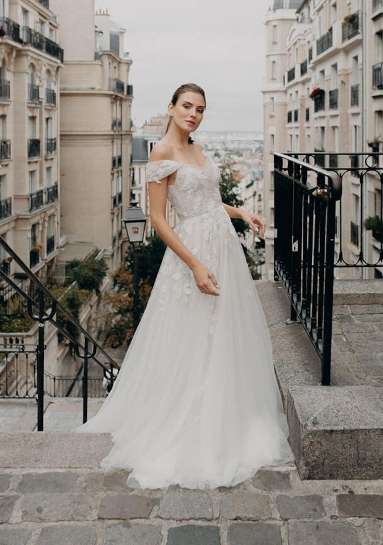 Alena Leena Bridal wedding dresses available at top Los Angeles and Orange County bridal shop, Love and Lace Bridal Salon.