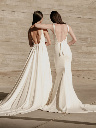 Two Simple crepe dresses by Aesling