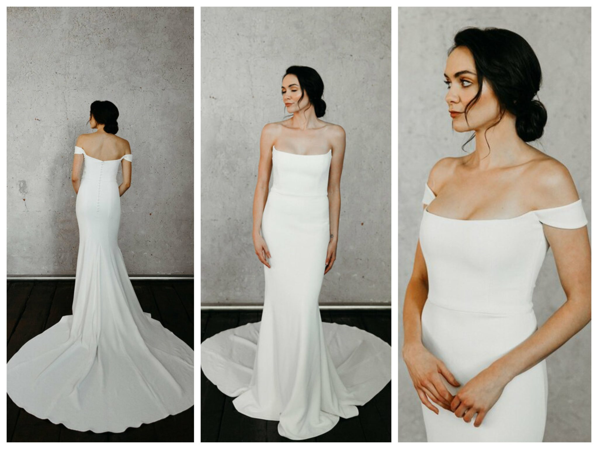 Wedding dresses for broad shoulders by top Los Angeles bridal shop, Love and Lace Bridal Salon: Alyssa Kristin's Camilla