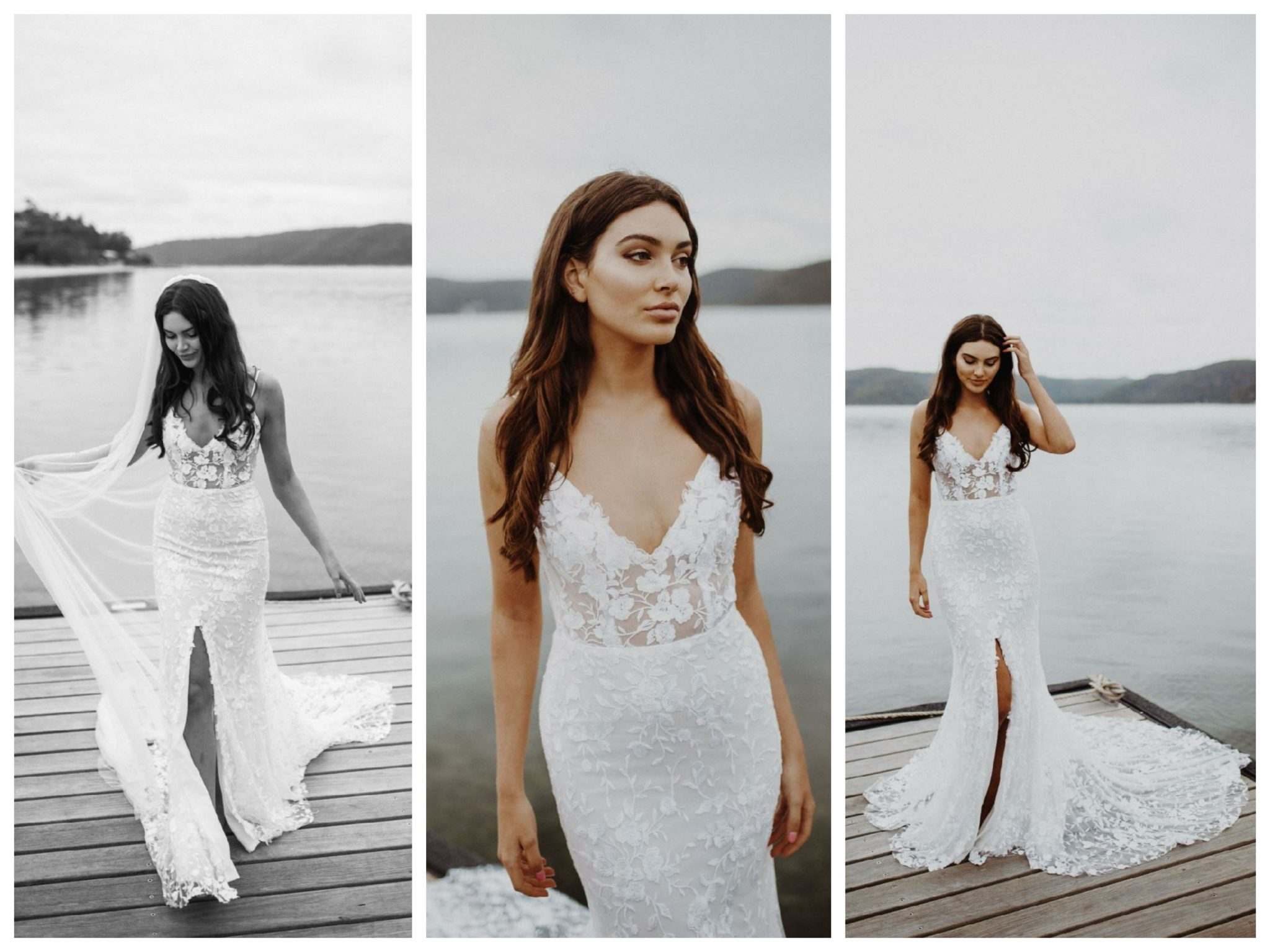 Wedding dresses for broad shoulders by top Los Angeles bridal shop, Love and Lace Bridal Salon: Emmy Mae Bridal's Bec