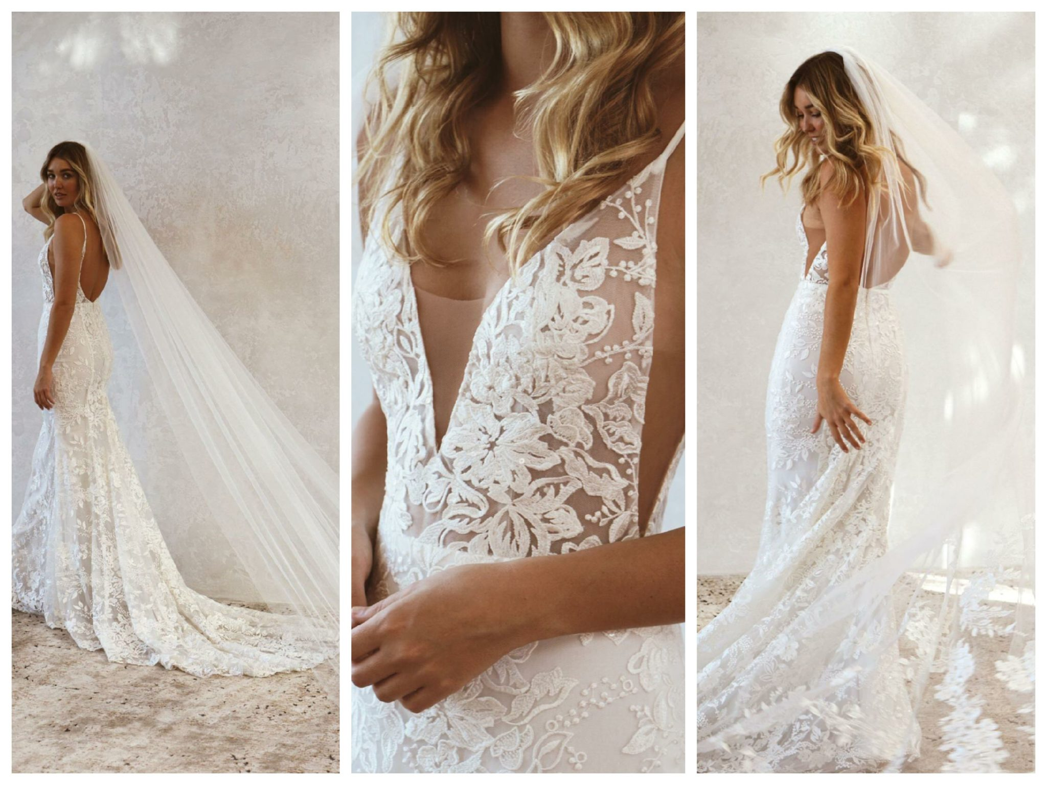 Wedding dresses for broad shoulders by top Los Angeles bridal shop, Love and Lace Bridal Salon: Emmy Mae Bridal's Peony