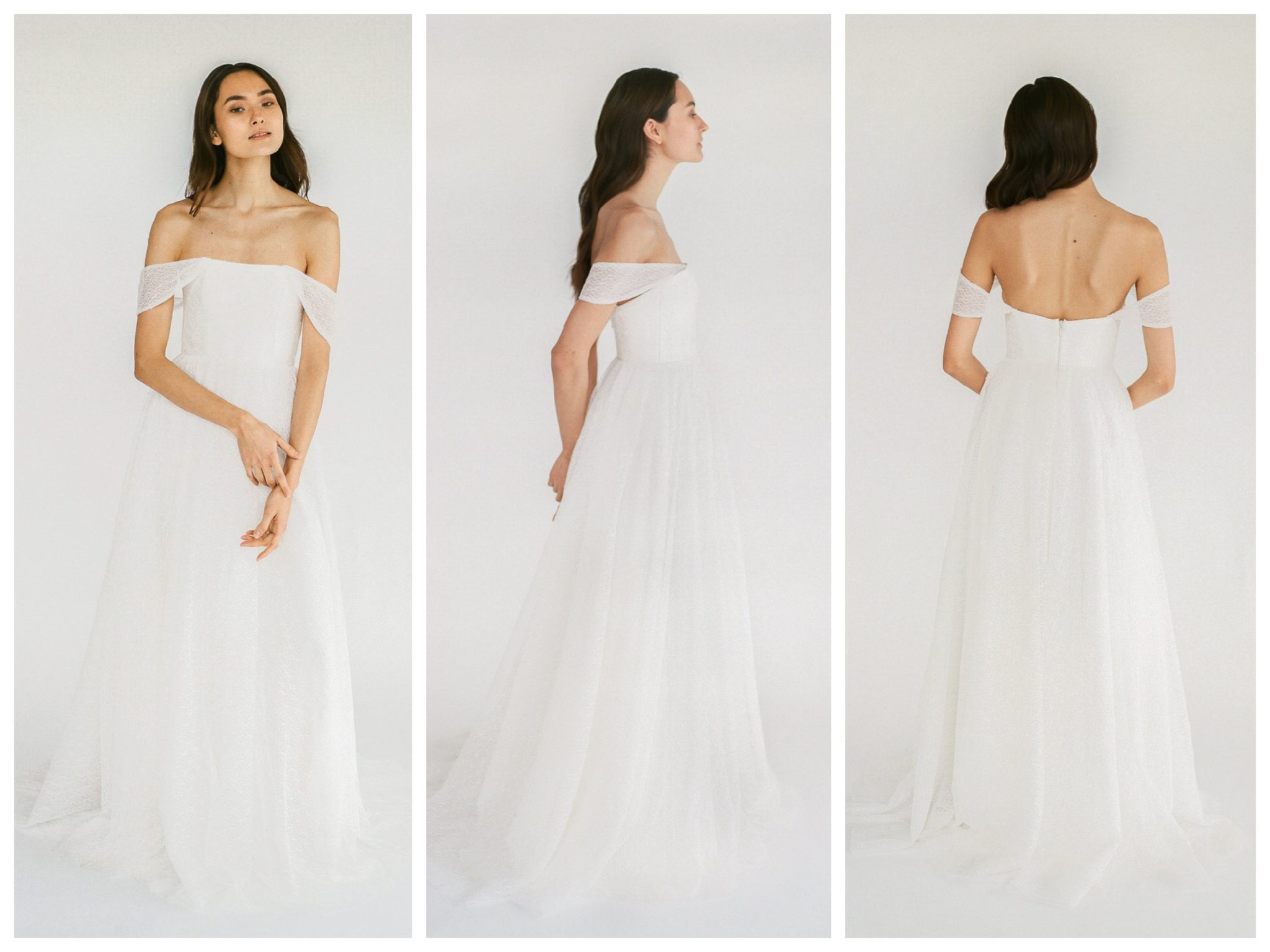 Wedding dresses for broad shoulders by top Los Angeles bridal shop, Love and Lace Bridal Salon: Truvelle Bridal's Vanessa
