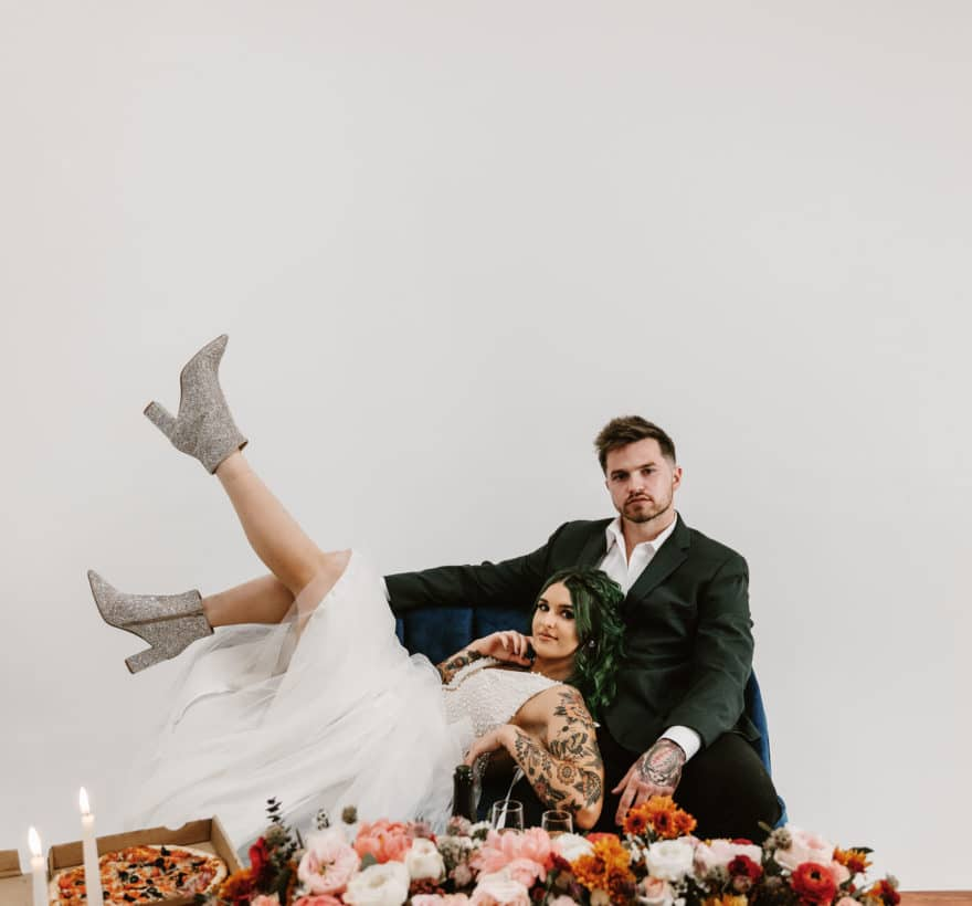 Small Business Stylized Wedding Photoshoot and Collaboration featured by top Orange County bridal salon, Love and Lace Bridal Salon